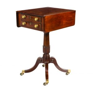 George III ladies workbox table in mahogany