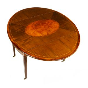 18th Century Hepplewhite oval sycamore Pembroke table, circa 1780